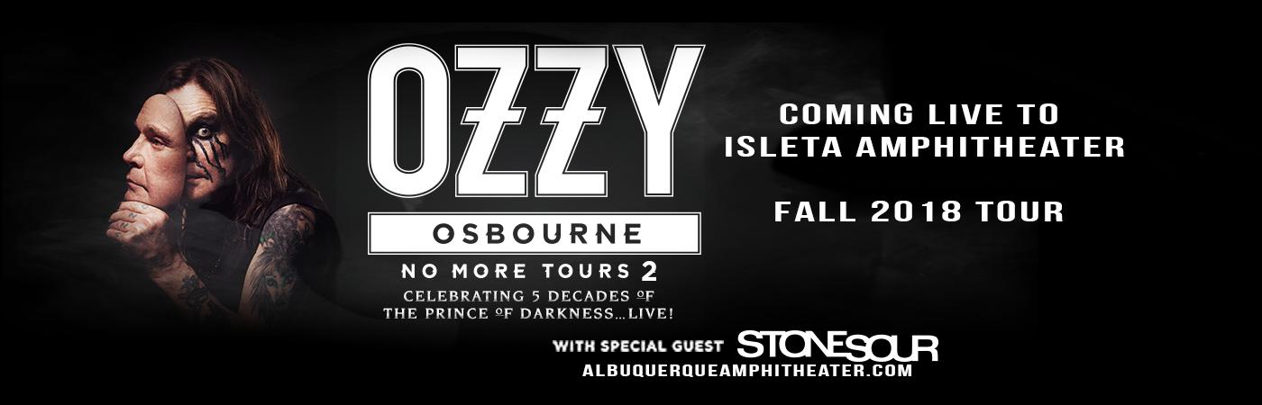 Ozzy Osbourne & Stone Sour at Isleta Amphitheater