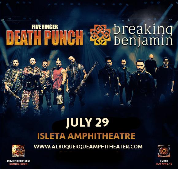 Five Finger Death Punch & Breaking Benjamin at Isleta Amphitheater