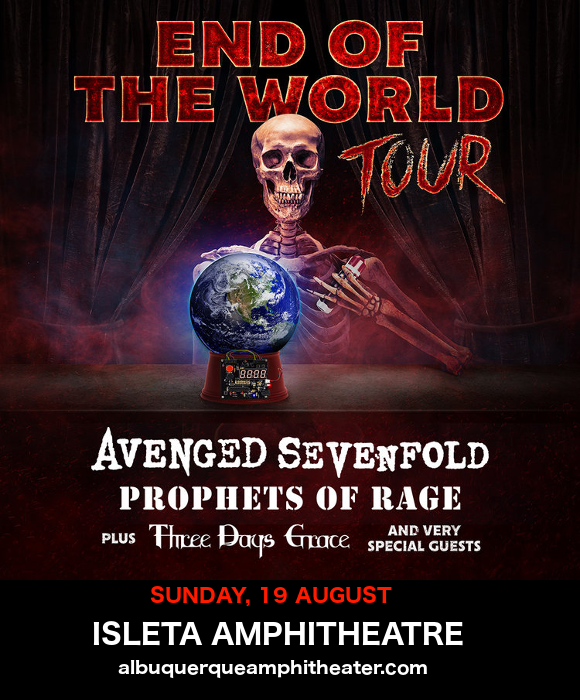 **CANCELLED** End of the World Tour: Avenged Sevenfold, Prophets of Rage & Three Days Grace at Isleta Amphitheater