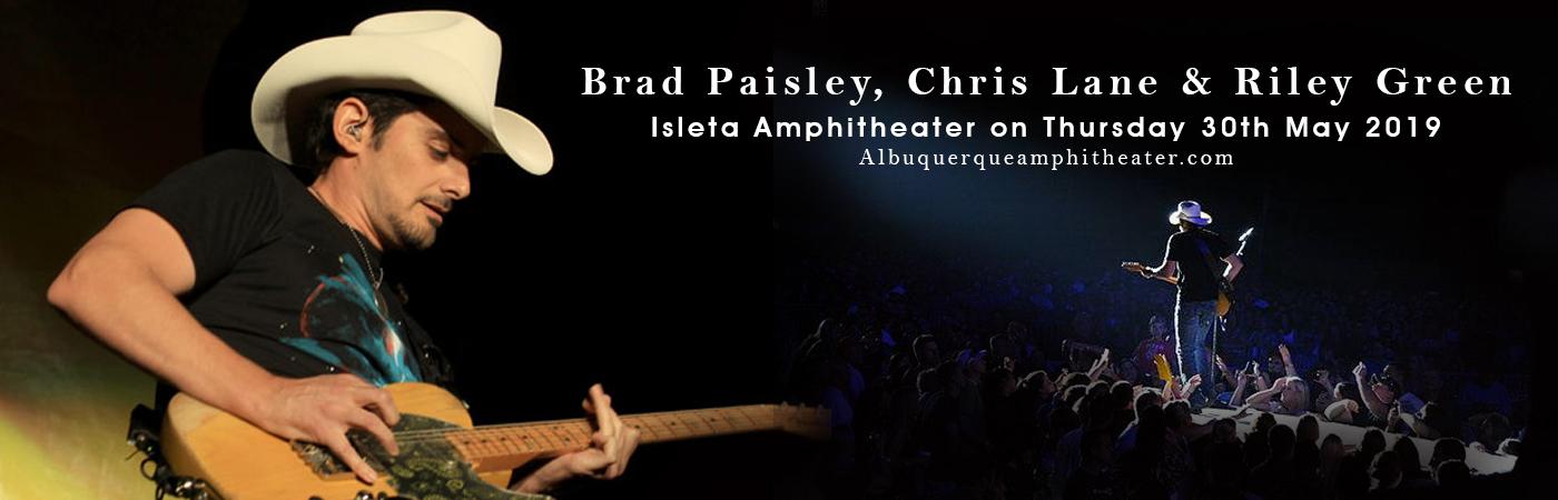 Brad Paisley, Chris Lane & Riley Green at Isleta Amphitheater