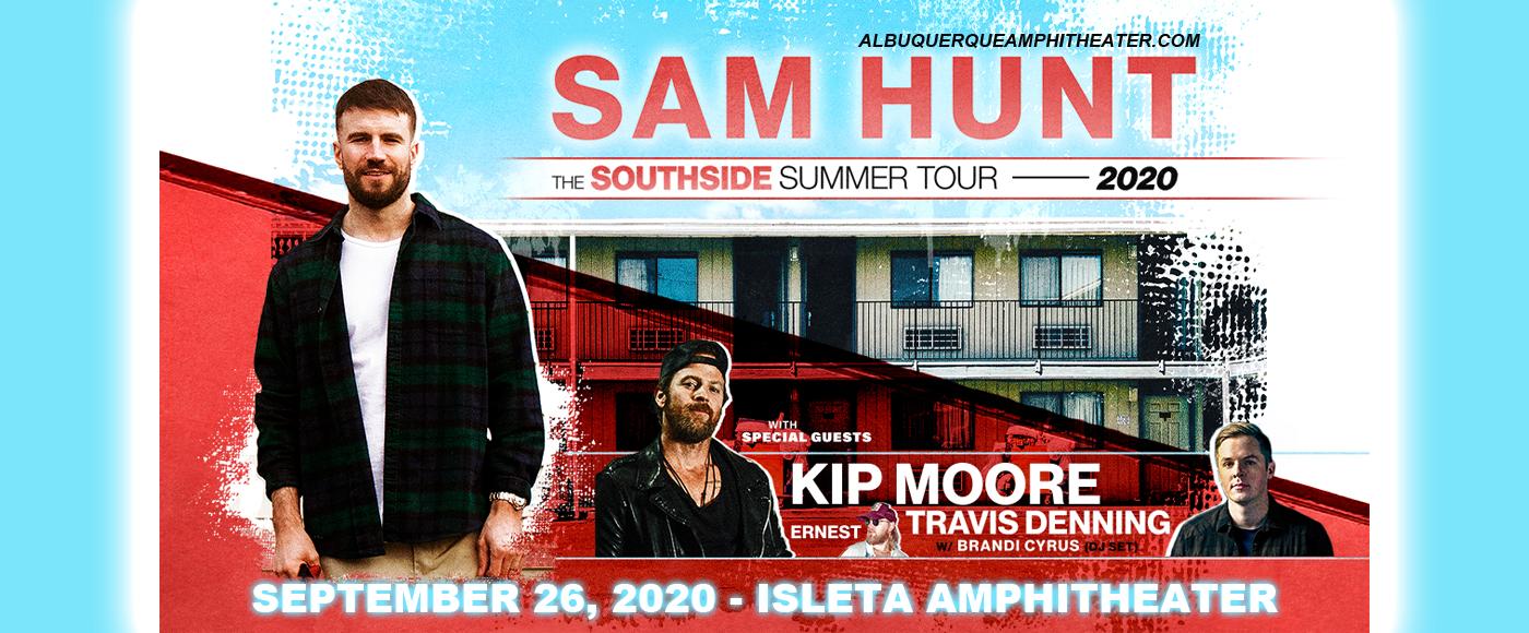 Sam Hunt, Kip Moore & Travis Denning at Isleta Amphitheater