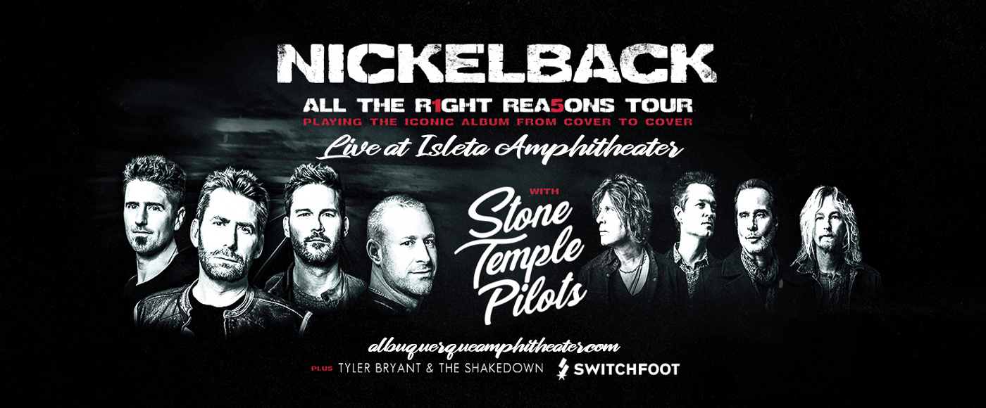Nickelback, Stone Temple Pilots & Switchfoot [CANCELLED] at Isleta Amphitheater