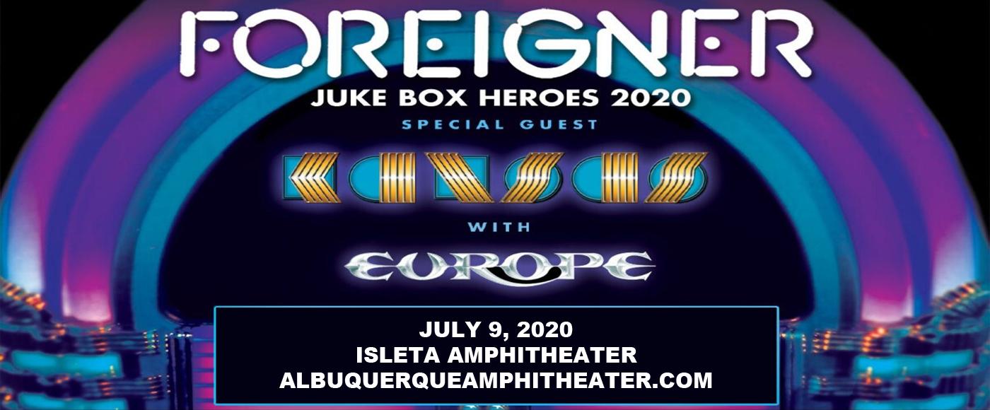 Foreigner, Kansas & Europe [CANCELLED] at Isleta Amphitheater