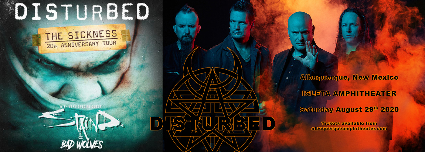 Disturbed, Staind & Bad Wolves at Isleta Amphitheater