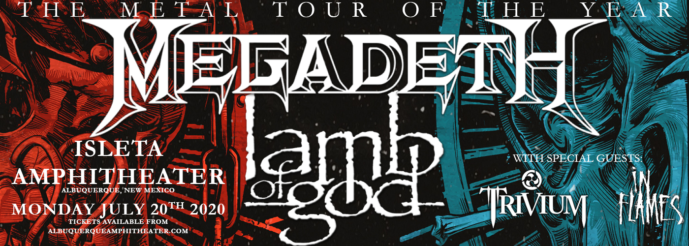 Megadeth & Lamb of God at Isleta Amphitheater
